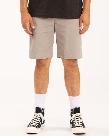 "2 Carter Stretch Shorts 21"" Grey ABYWS00121 Billabong"