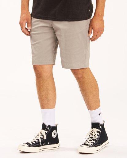 "3 Carter Stretch Shorts 21"" Grey ABYWS00121 Billabong"