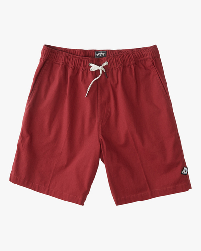 "4 Larry Layback Short 17"" Red ABYWS00137 Billabong"
