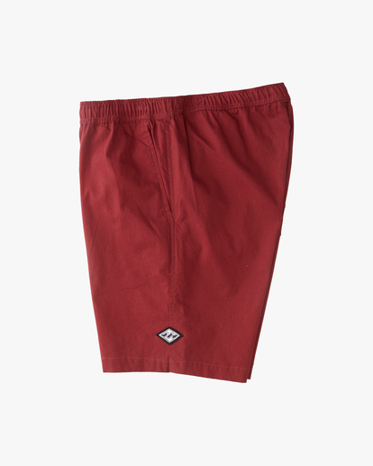 "2 Larry Layback Short 17"" Red ABYWS00137 Billabong"