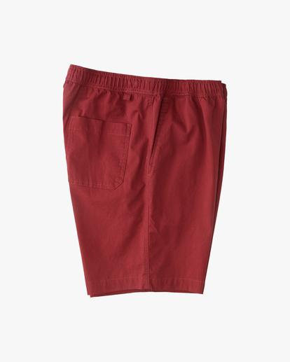 "3 Larry Layback Short 17"" Red ABYWS00137 Billabong"