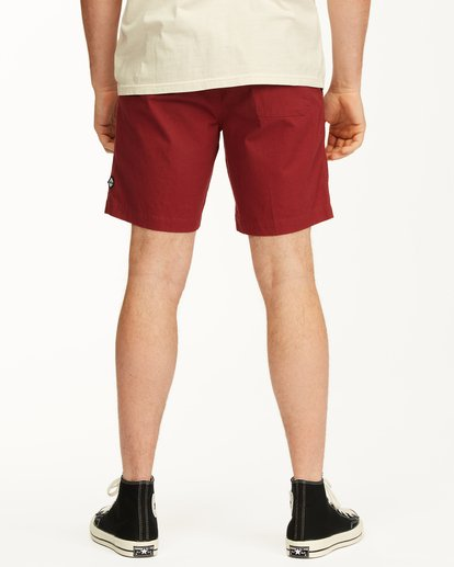 "11 Larry Layback Short 17"" Red ABYWS00137 Billabong"