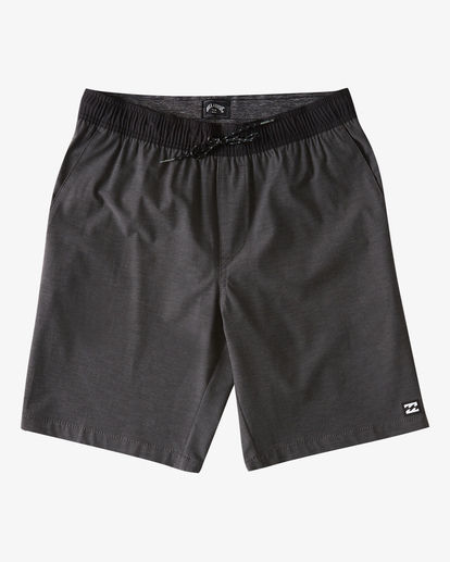 "4 Crossfire Elastic Short 18"" Black ABYWS00140 Billabong"