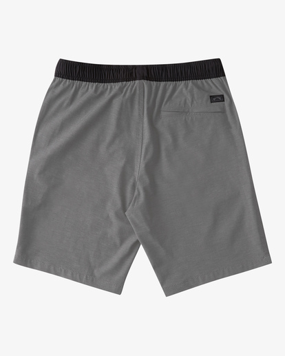 "5 Crossfire Elastic Short 18"" Grey ABYWS00140 Billabong"