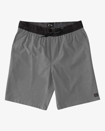 "4 Crossfire Elastic Short 18"" Grey ABYWS00140 Billabong"