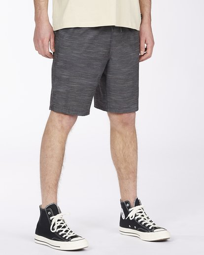 "2 Crossfire Elastic Short 18"" Black ABYWS00140 Billabong"