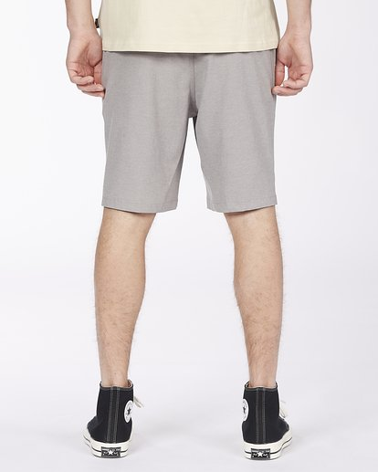 "3 Crossfire Elastic Short 18"" Grey ABYWS00140 Billabong"