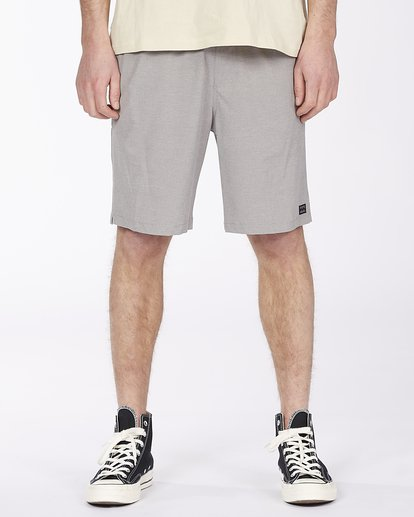 "0 Crossfire Elastic Short 18"" Grey ABYWS00140 Billabong"