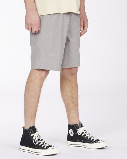 "2 Crossfire Elastic Short 18"" Grey ABYWS00140 Billabong"