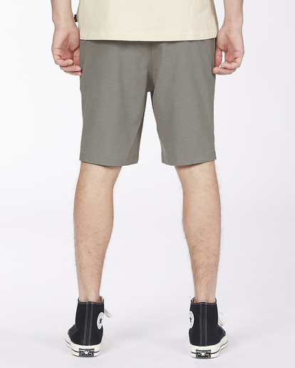 "9 Crossfire Elastic Short 18"" Grey ABYWS00140 Billabong"
