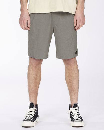 "6 Crossfire Elastic Short 18"" Grey ABYWS00140 Billabong"