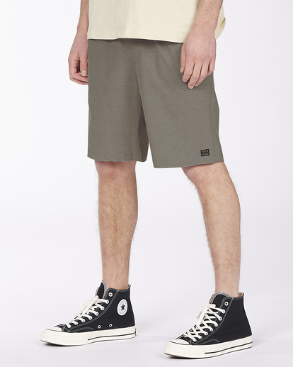 "7 Crossfire Elastic Short 18"" Grey ABYWS00140 Billabong"