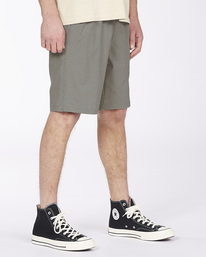 "8 Crossfire Elastic Short 18"" Grey ABYWS00140 Billabong"