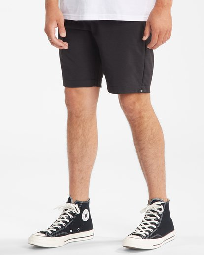 """5 A/Div Surftrek Wick Shorts 20"""" Black ABYWS00148 Billabong"""