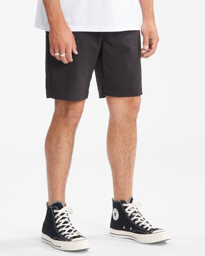 """6 A/Div Surftrek Wick Shorts 20"""" Black ABYWS00148 Billabong"""