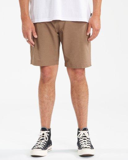 """4 A/Div Surftrek Wick Shorts 20"""" Brown ABYWS00148 Billabong"""