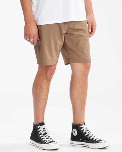 """6 A/Div Surftrek Wick Shorts 20"""" Brown ABYWS00148 Billabong"""