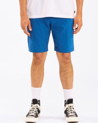 """4 A/Div Surftrek Wick Shorts 20"""" Blue ABYWS00148 Billabong"""