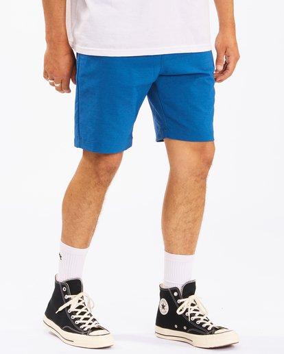 """6 A/Div Surftrek Wick Shorts 20"""" Blue ABYWS00148 Billabong"""
