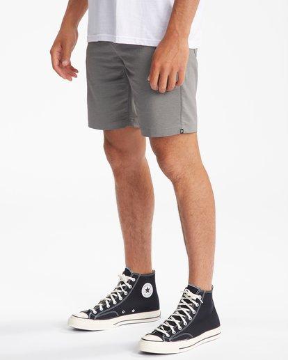 """4 A/Div Surftrek Wick Shorts 20"""" Grey ABYWS00148 Billabong"""