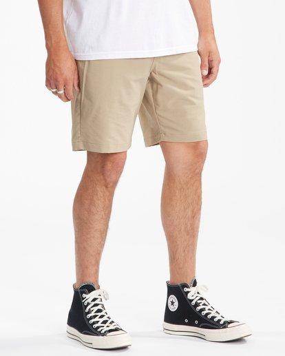 """6 A/Div Surftrek Wick Shorts 20"""" Beige ABYWS00148 Billabong"""