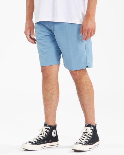 """5 A/Div Surftrek Wick Shorts 20"""" Blue ABYWS00148 Billabong"""
