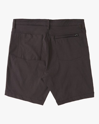 """1 A/Div Surftrek Wick Shorts 19"""" Black ABYWS00150 Billabong"""