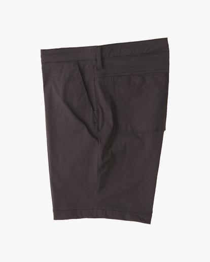 """2 A/Div Surftrek Wick Shorts 19"""" Black ABYWS00150 Billabong"""