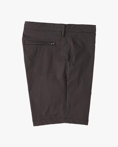 """3 A/Div Surftrek Wick Shorts 19"""" Black ABYWS00150 Billabong"""