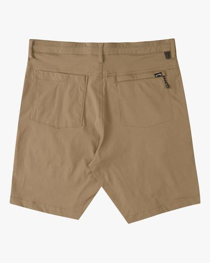 """1 A/Div Surftrek Wick Shorts 19"""" Brown ABYWS00150 Billabong"""