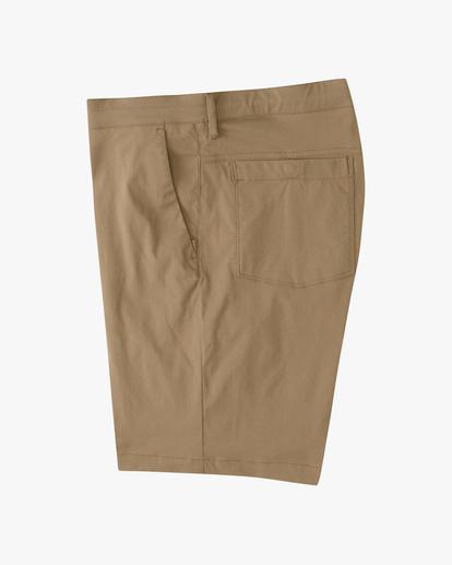 """2 A/Div Surftrek Wick Shorts 19"""" Brown ABYWS00150 Billabong"""
