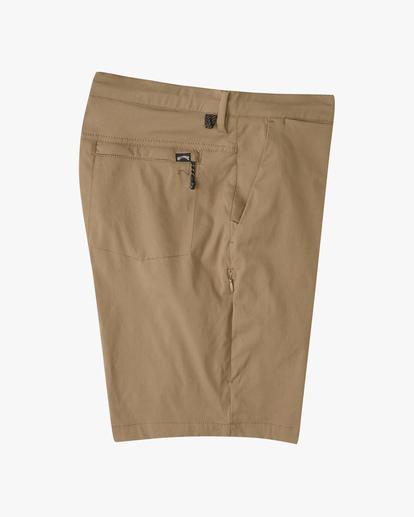 """3 A/Div Surftrek Wick Shorts 19"""" Brown ABYWS00150 Billabong"""