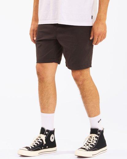 """5 A/Div Surftrek Wick Shorts 19"""" Black ABYWS00150 Billabong"""