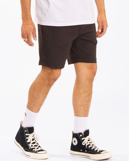 """6 A/Div Surftrek Wick Shorts 19"""" Black ABYWS00150 Billabong"""