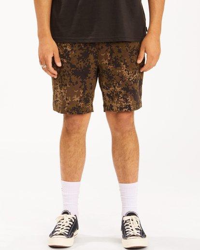 """4 A/Div Surftrek Wick Shorts 19"""" Black ABYWS00150 Billabong"""