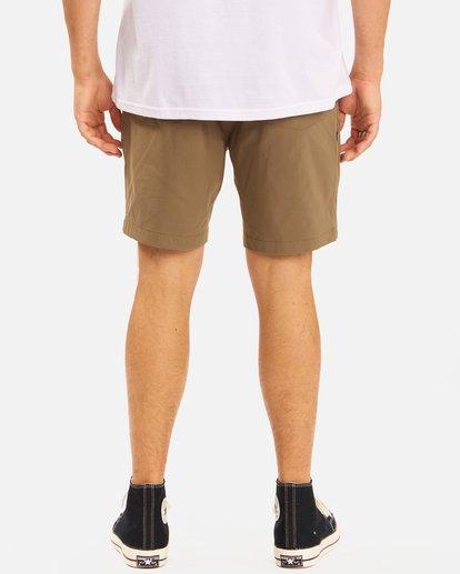 """7 A/Div Surftrek Wick Shorts 19"""" Brown ABYWS00150 Billabong"""