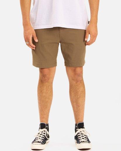 """4 A/Div Surftrek Wick Shorts 19"""" Brown ABYWS00150 Billabong"""