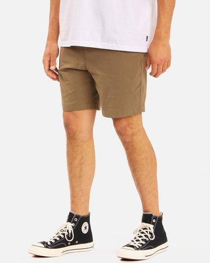 """5 A/Div Surftrek Wick Shorts 19"""" Brown ABYWS00150 Billabong"""