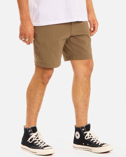 """6 A/Div Surftrek Wick Shorts 19"""" Brown ABYWS00150 Billabong"""