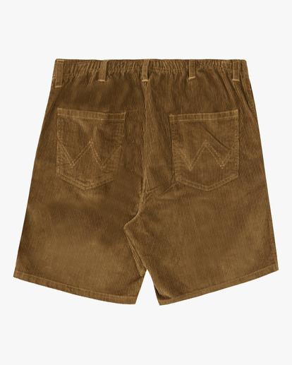 1 Wrangler Bowie Layback Cord Shorts Brown ABYWS00151 Billabong