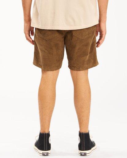 5 Wrangler Bowie Layback Cord Shorts Brown ABYWS00151 Billabong