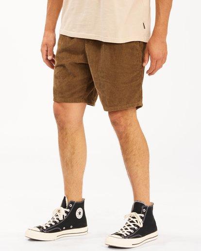 3 Wrangler Bowie Layback Cord Shorts Brown ABYWS00151 Billabong