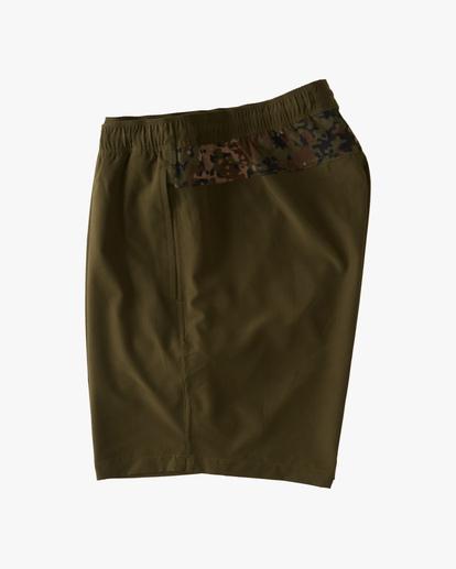 """2 A/Div Surftrek Elastic Waist Shorts 17"""" Brown ABYWS00155 Billabong"""