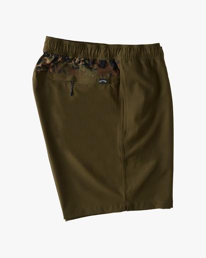 """3 A/Div Surftrek Elastic Waist Shorts 17"""" Brown ABYWS00155 Billabong"""