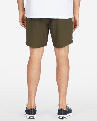 """6 A/Div Surftrek Elastic Waist Shorts 17"""" Brown ABYWS00155 Billabong"""