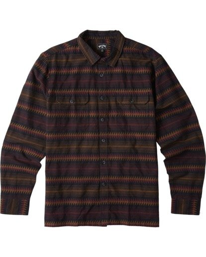 6 Offshore Long Sleeve Flannel Shirt Black ABYWT00104 Billabong