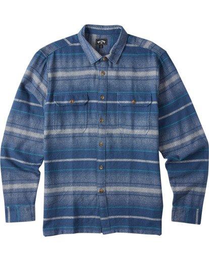 6 Offshore Long Sleeve Flannel Shirt Blue ABYWT00104 Billabong