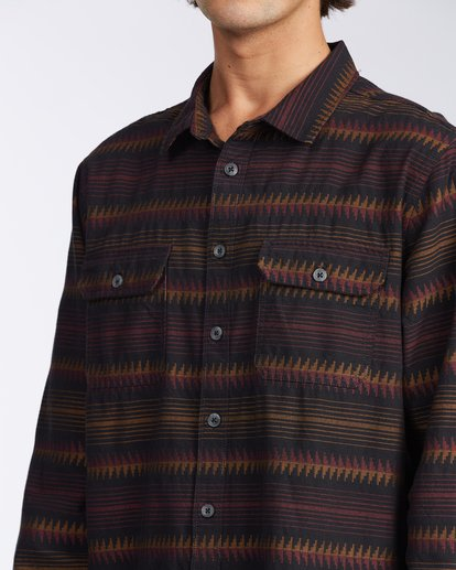 4 Offshore Long Sleeve Flannel Shirt Black ABYWT00104 Billabong