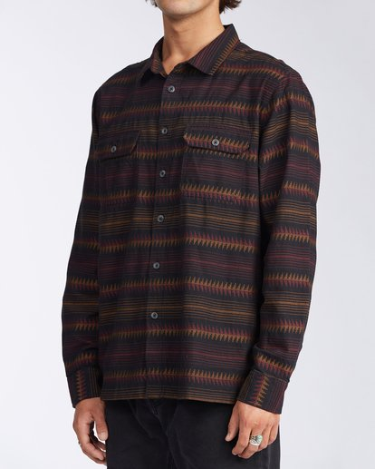1 Offshore Long Sleeve Flannel Shirt Black ABYWT00104 Billabong