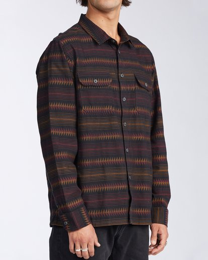 2 Offshore Long Sleeve Flannel Shirt Black ABYWT00104 Billabong